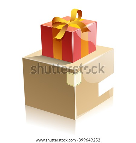 gift box package vector - stock vector