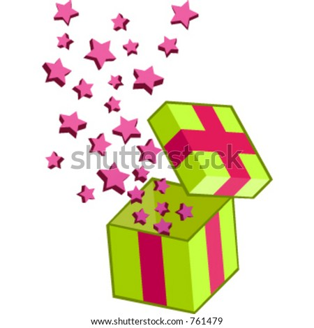 Gift box pops suitable for suprise element - stock vector