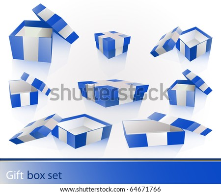 Gift box set - stock vector