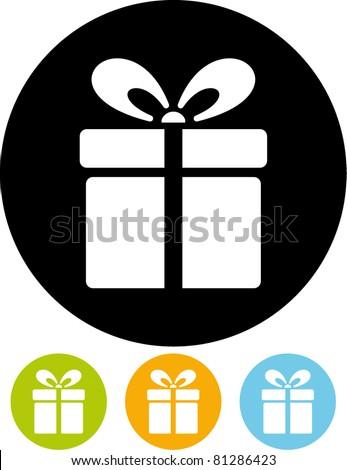 Gift box – Vector icon - stock vector
