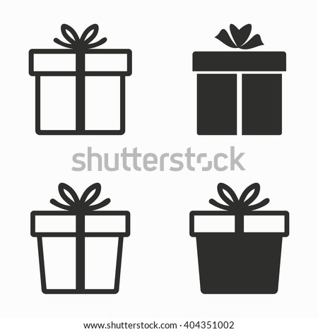 gift box vector icons set black stock vector 404351002 shutterstock rh shutterstock com gift box factory uk gift box vector freepik