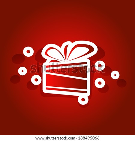 Gift Box vector Illustration - stock vector