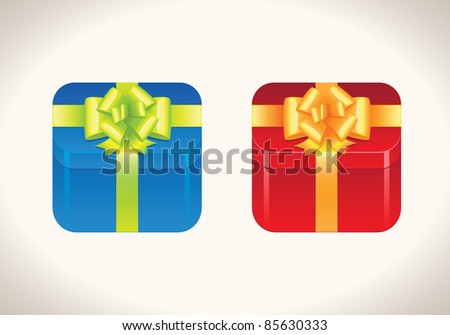 Gift boxes icons - stock vector