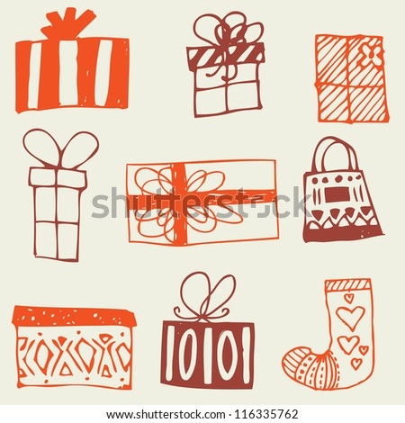 Gift boxes seamless background, good for Christmas and New Year