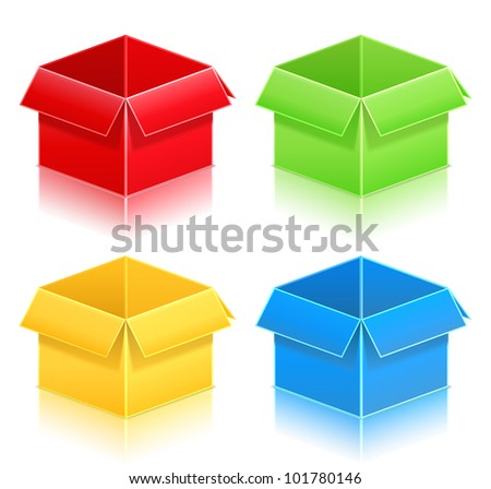 Gift boxes, vector eps10 illustration - stock vector