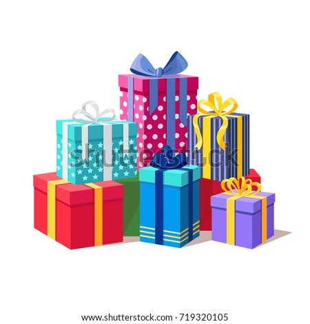 Gift boxes ribbon set isolated on 719320105 gift boxes ribbon set isolated on 719320105 shutterstock negle Gallery
