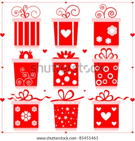 Gift Boxs - stock vector