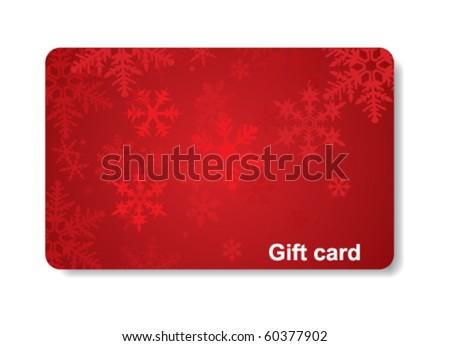 gift card - stock vector