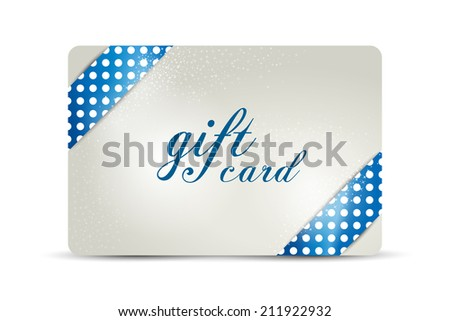 Gift card. Vector  design. - stock vector