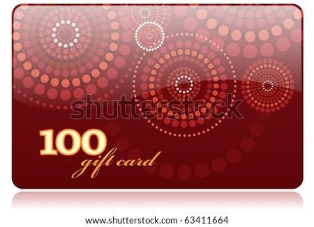 Gift card vector template - stock vector