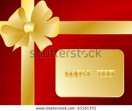 Gift card with a bow and a tape