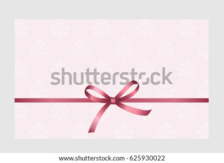 Gift card pink ribbon bow on stock vector 625930022 shutterstock gift card with pink ribbon and a bow on white background gift voucher template yadclub Image collections