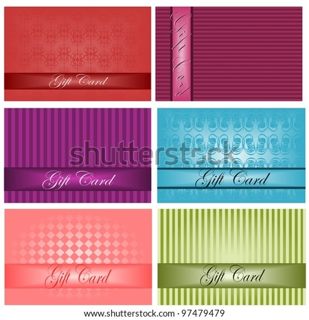 Gift cards set - stock vector