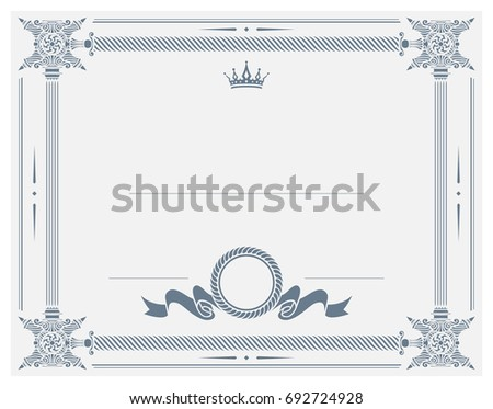 Gift certificate diploma award template border stock vector hd gift certificate diploma award template with border as celtic pattern and elements in vector yadclub Images