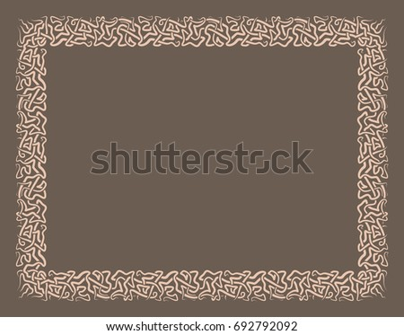 Gift certificate diploma award template border stock vector gift certificate diploma award template with border as celtic pattern and elements in vector yadclub Images