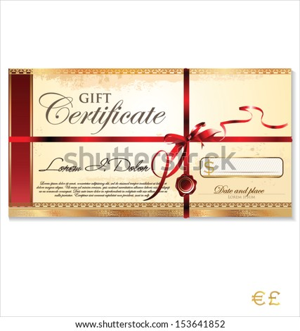 Gift Certificate Template Images RoyaltyFree Images – Gift Certificate Template Pages