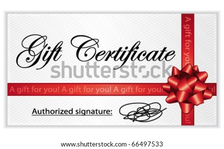 Gift certificate stock images royalty free images vectors gift certificate vector illustration negle Gallery