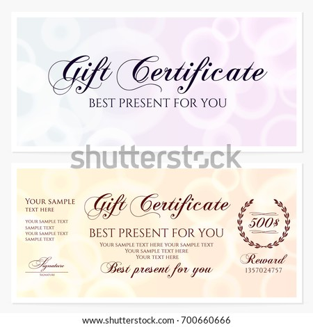 Gift Certificate Voucher Coupon Invitation Gift Vector – Gift Certificate Voucher Template