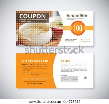 Coupon Template Images RoyaltyFree Images Vectors – Meal Voucher Template
