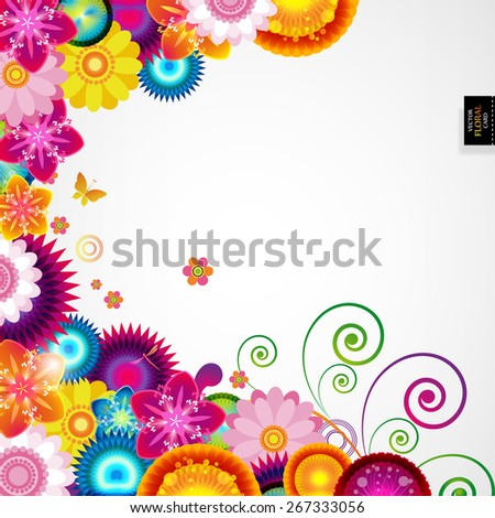 Gift festive floral design background. - stock vector