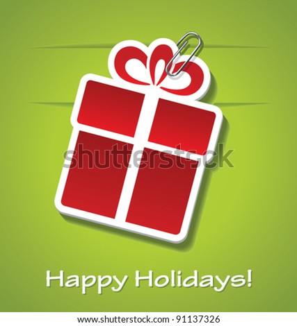 Gift greeting card. - stock vector