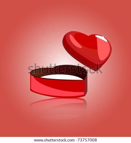 gift heart - stock vector