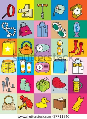 gift ideas - stock vector