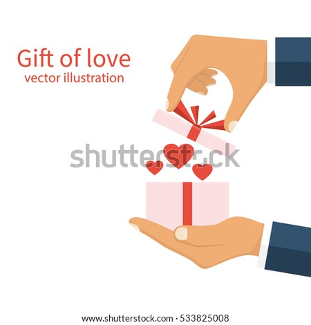 Gift love concept happy valentines day stock vector 533825008 gift love concept happy valentines day stock vector 533825008 shutterstock negle Gallery