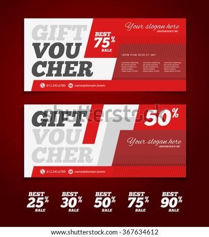 Gift Discount Voucher Template Modern Design Vector – Discount Voucher Design