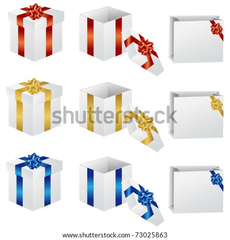 gift set - stock vector