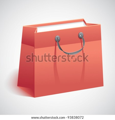 Gift shopping bag.Vector illustration - stock vector