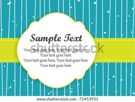 Gift/Thank You Card - stock vector