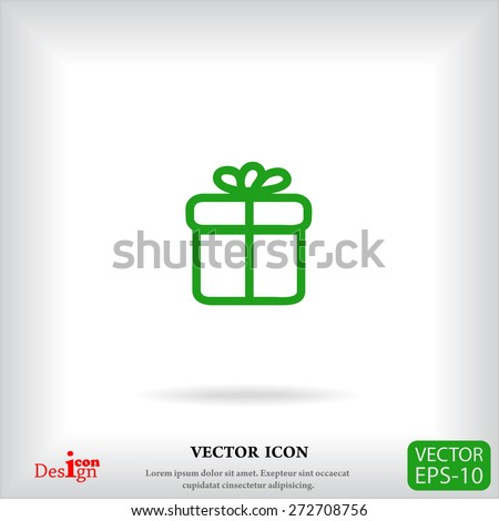 gift vector icon - stock vector