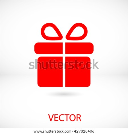 gift vector icon - stock vector