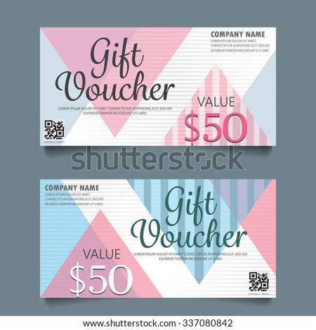 Gift Voucher Certificate Coupon Template Cute Stock Vector (Royalty ...