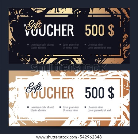 Gift voucher coupon discount elegant gift stock vector 542962348 gift voucher coupon discount elegant gift certificate template with handmade gold marble texture shopping yadclub Gallery