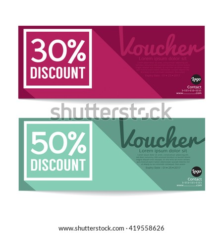 Gift Voucher Coupon Template Vector Illustration