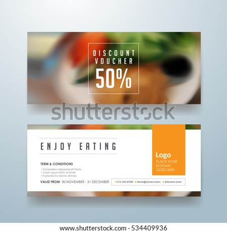 Gift voucher discount template,Vector illustration