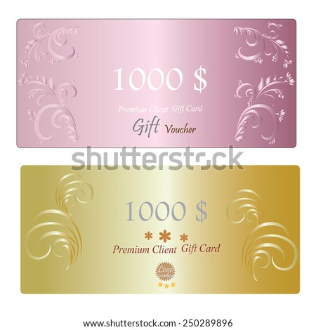 Gift Certificate Voucher Coupon Template Layout Stock Vector