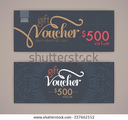 gift voucher template. - stock vector