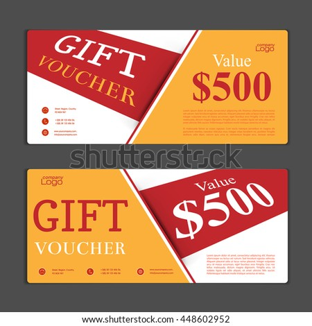 Gift Voucher Template Can Be Use Stock Vector Hd Royalty Free