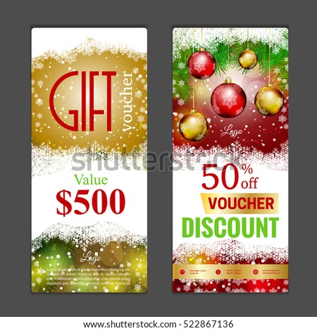 Gift Voucher Template Can Be Use Stock Vector   Shutterstock