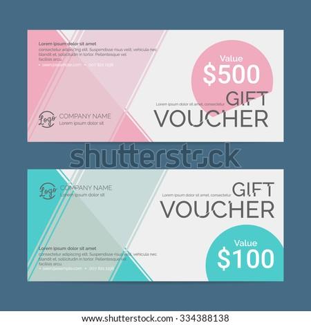 Gift Voucher Template Eps10 Vector Format Stock Vector 334388138