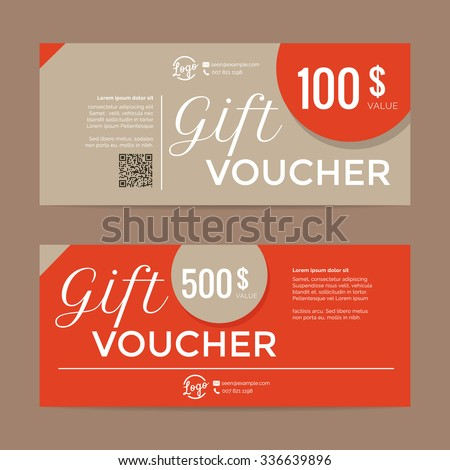 Gift voucher template , eps10 vector format - stock vector