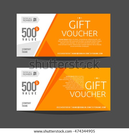 Gift Voucher Template Gift Certificate Coupon Stock Vector 474344905 ...