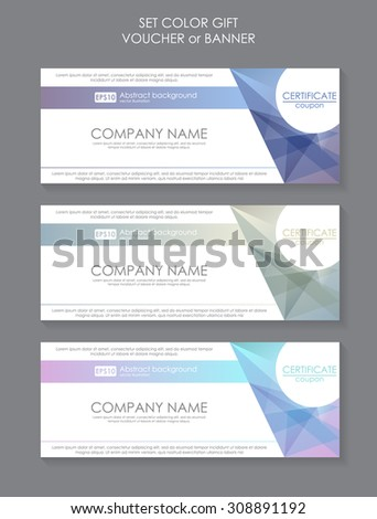 Gift voucher template modern pattern. Pricing Table Template with Three Plan Type. Graphic Design on Gray Background. Three tariffs. interface for the site. Vector banner for web app - stock vector