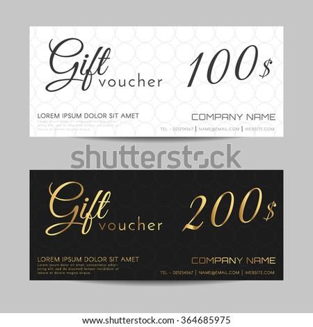 Gift Voucher Template Vector Illustration Stock Photo (Photo, Vector ...