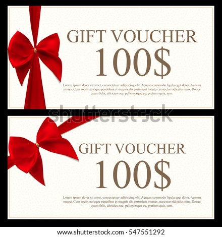 Gift Voucher Template Gift Card Voucher Vector 349477247 – Present Voucher Template