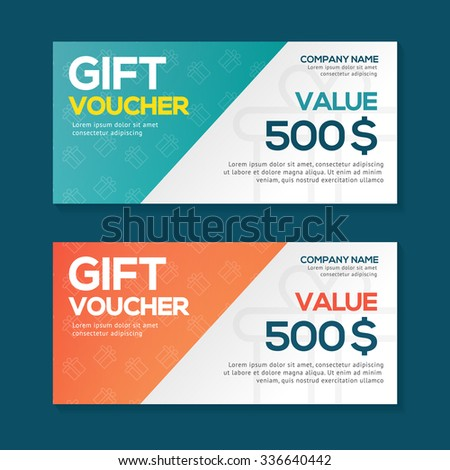 Gift Voucher Template with Background , Template Design , Gift Voucher Template , Layout design , Clean and Modern Design , Vector illustration  - stock vector