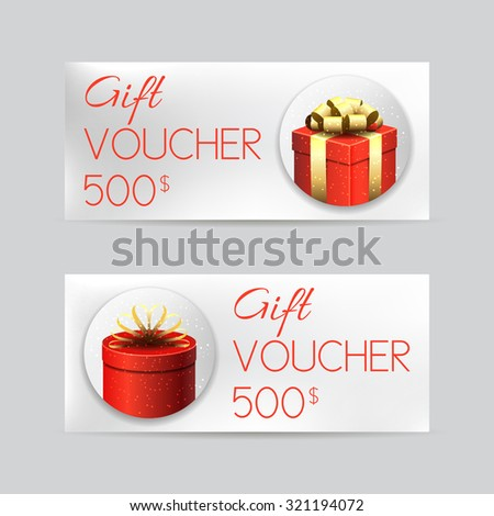 Gift Voucher Template Luxury Red Gift Vector 366712622 – Christmas Voucher Template